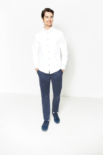 Regular-fit chinos, Blue, hi-res