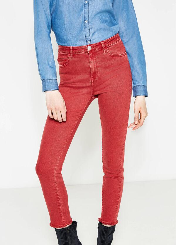 Pantaloni cotone stretch orlo sfrangiato | OVS