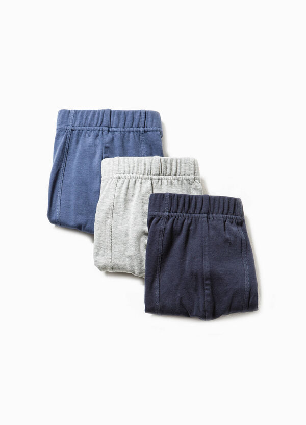 Three-pack stretch cotton boxer shorts | OVS