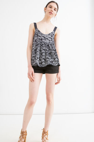 100% viscose top with all-over print