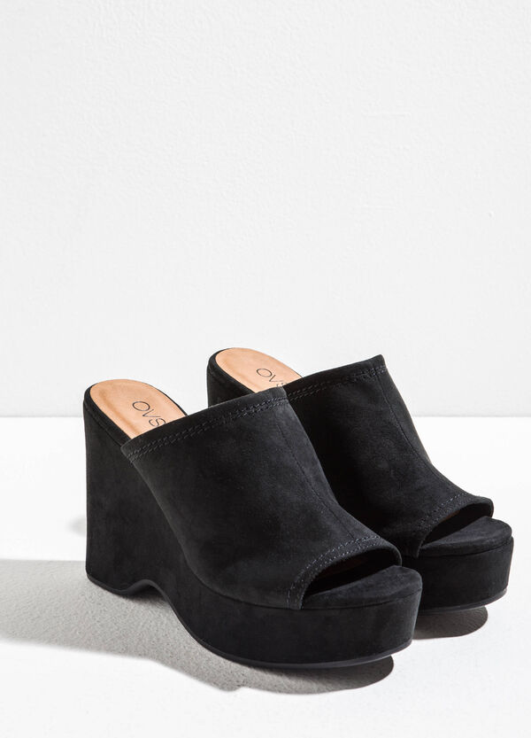 Suede sabot with plateau | OVS