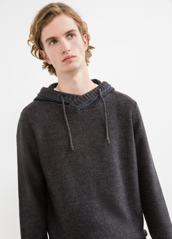 Pullover with drawstring hood | OVS