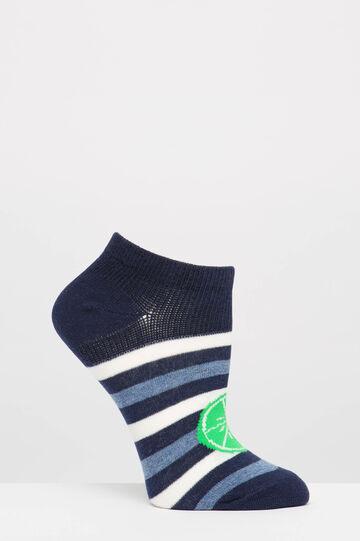 Two-pack short patterned socks, Grey, hi-res