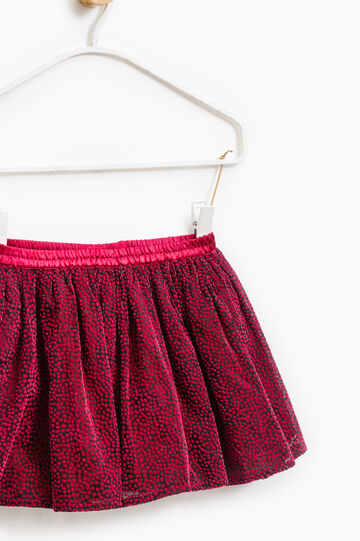 Skirt with elasticated waist, Red, hi-res
