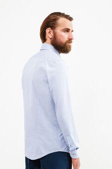 Camicia formale slim fit puro cotone, Blu chiaro, hi-res