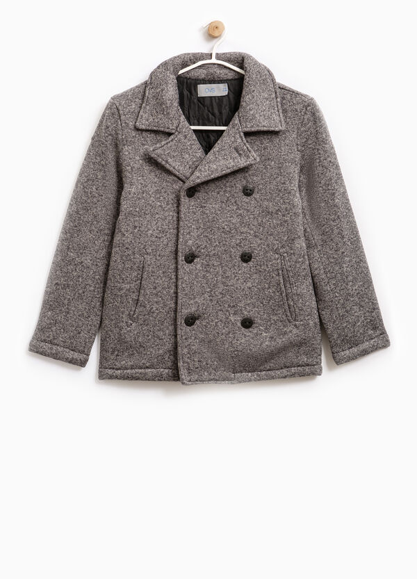 Mélange coat with lapels | OVS