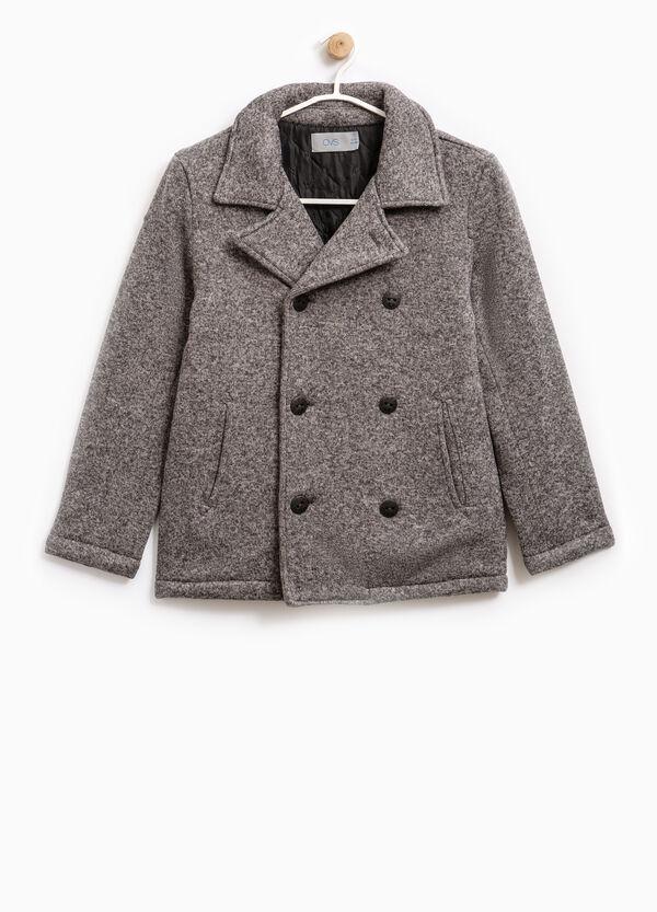 Mélange coat with lapels   OVS
