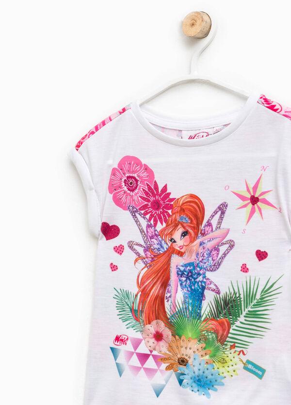 T-shirt con stampa e fantasia Winx | OVS