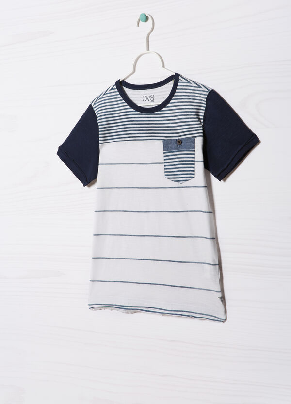 100% cotton striped T-shirt | OVS