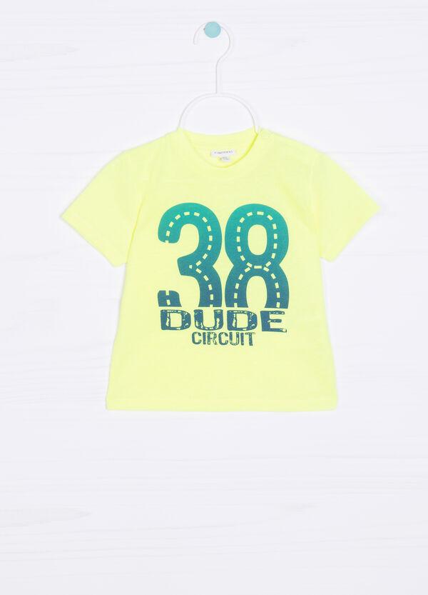 T-shirt tinta unita con stampa | OVS