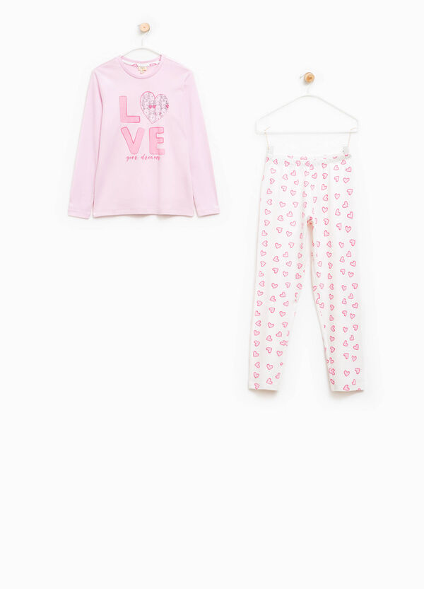 Pyjamas with lettering and hearts print | OVS