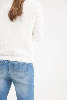 Jeans stretch effetto delavé, Blu, hi-res