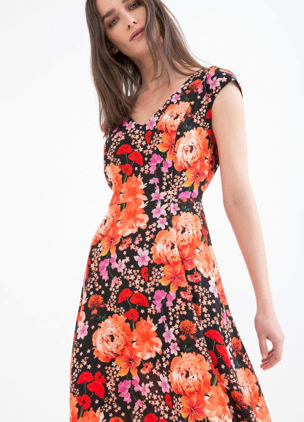 Stretch dress with floral print | OVS