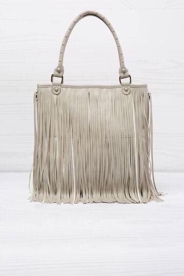 Shoulder bag with fringe, Cream White, hi-res