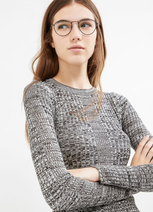 Patterned knitted pullover in 100% cotton   OVS