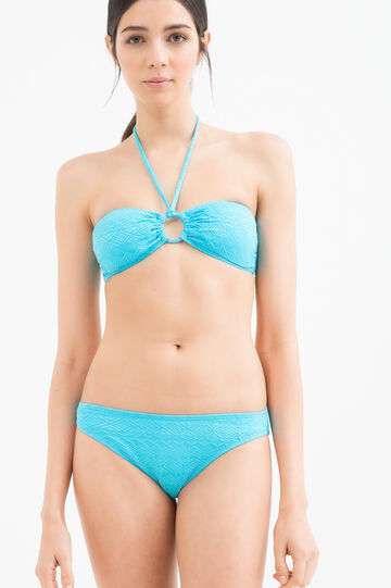 Stretch bikini with ring, Turquoise Blue, hi-res