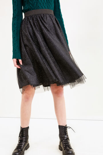 Tulle midi skirt, Grey/Silver, hi-res