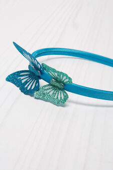 Hairband with glitter, Blue, hi-res