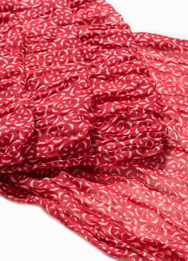 Scarf with contrasting colour pattern | OVS