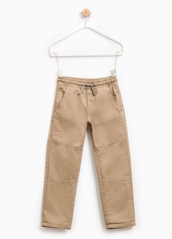 Pantaloni cotone con vita elasticata | OVS