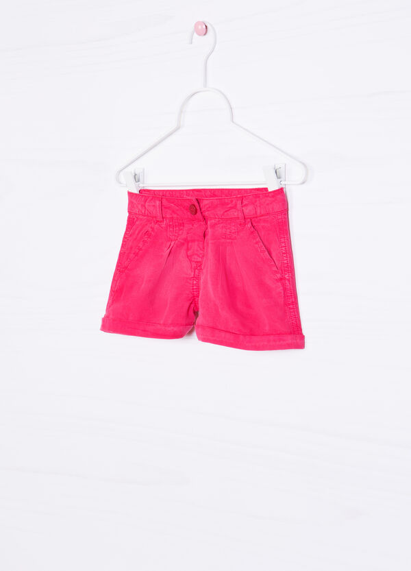 Solid colour 100% viscose shorts | OVS