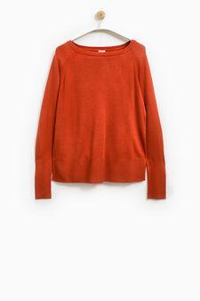 Smart Basic solid colour pullover, Orange, hi-res