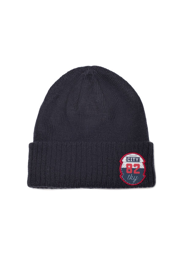 Beanie cap with patches   OVS
