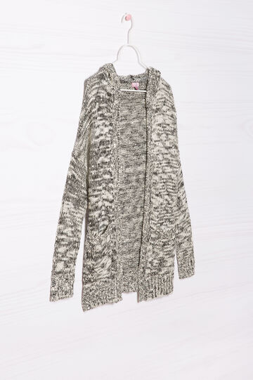 Knitted sequinned cardigan, Black, hi-res