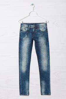 Jeans stretch Blue Black, Denim, hi-res