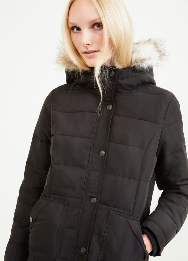 Down jacket with removable fur | OVS