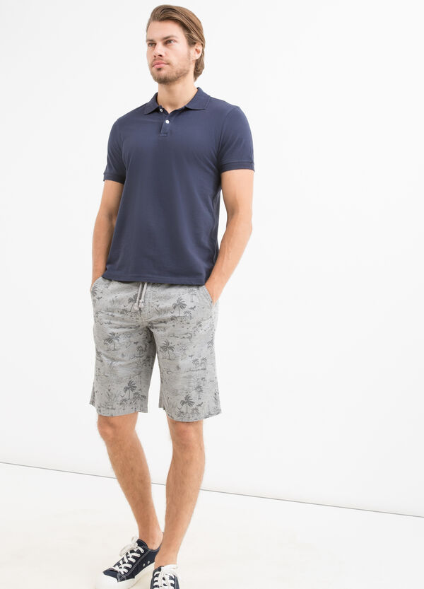 Bermuda shorts in 100% cotton with G&H pattern | OVS
