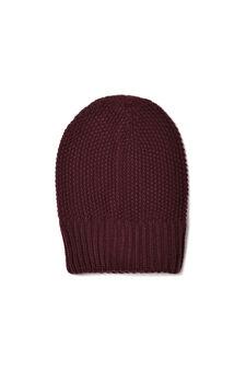 Knitted beanie cap, Royal Purple, hi-res