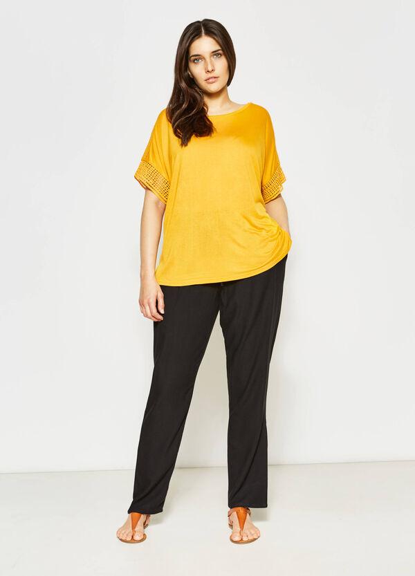 Camiseta en tejido calado Curvy | OVS