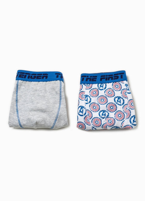 Two-pack stretch Captain America boxer shorts | OVS