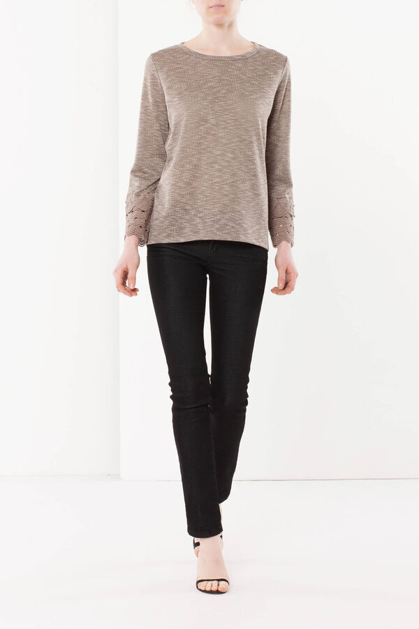 T-shirt with lace details | OVS