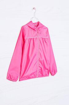 Solid colour windbreaker, Pink, hi-res