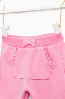 Gym pants with pouch pocket, Pink, hi-res