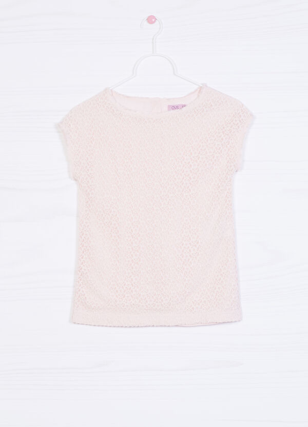 Solid colour stretch T-shirt | OVS