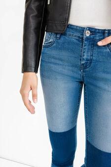 Jeans skinny fit stretch effetto used, Lavaggio medio, hi-res