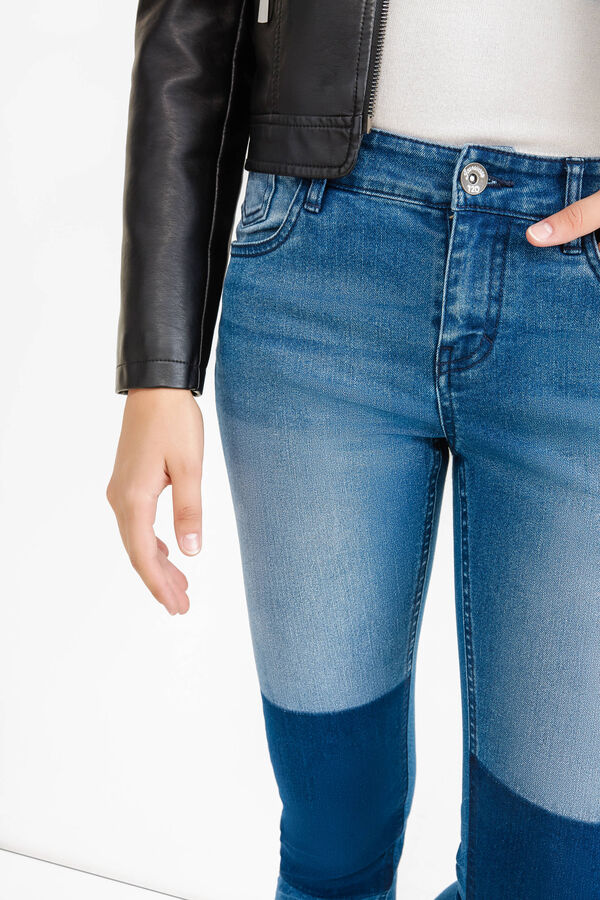Worn-effect skinny-fit stretch jeans | OVS