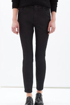 Plain stretch jeans, Black, hi-res