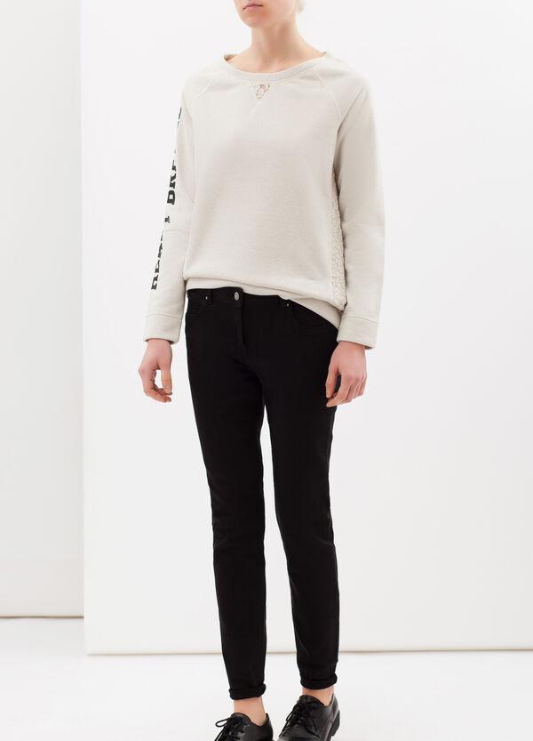 Stretch cotton blend sweatshirt | OVS