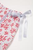 Printed viscose pyjama shorts, White, hi-res