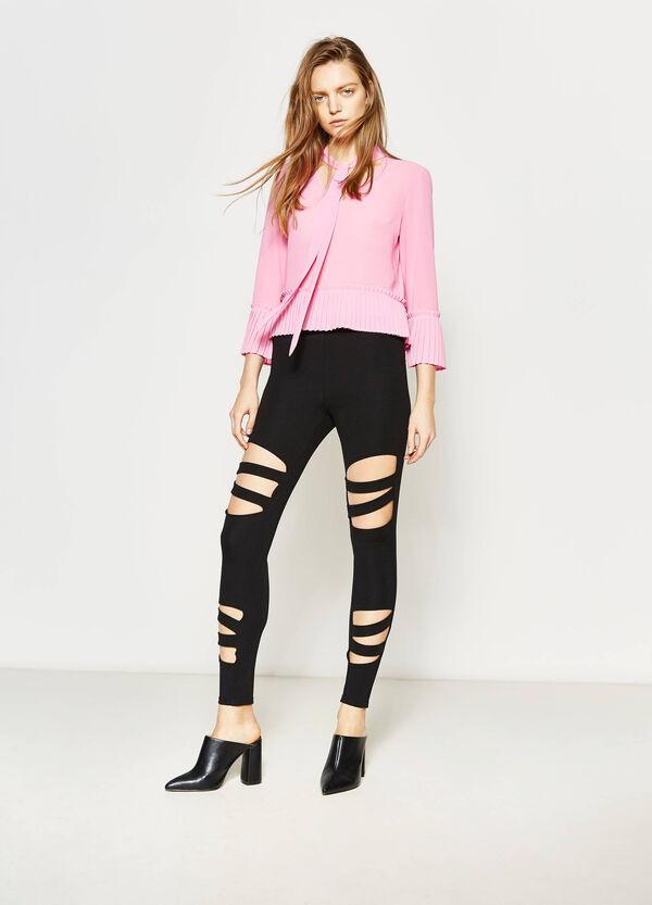Pantaloni stretch con aperture | OVS
