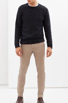 Chinos stretch slim fit, Marrone beige, hi-res