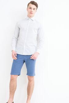 Rumford 100% cotton shirt, White/Light Blue, hi-res