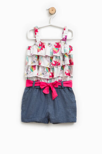 Pinafore with floral flounces