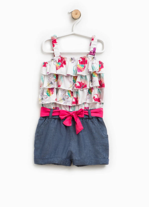 Pinafore with floral flounces | OVS