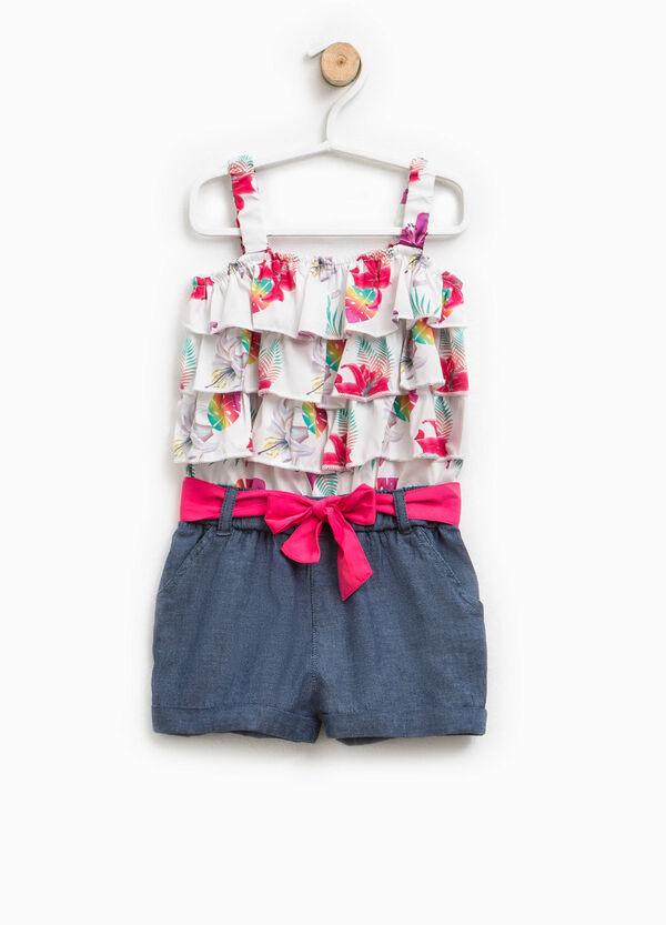 Vestitino tuta con balze floreali | OVS