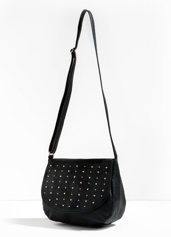 Shoulder bag with studs and flap | OVS